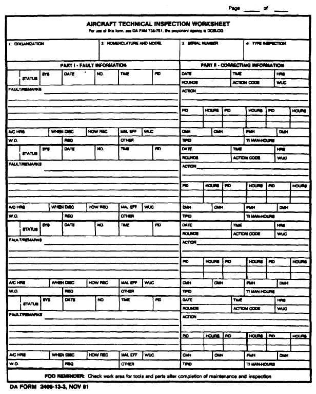 Figure 1-4 Da Form 2408-13-3Da Form. Example Of Completed Da Form ...