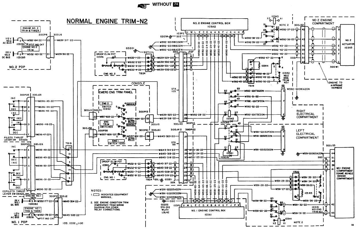 power turbine control system  n2  wiring diagram  continued