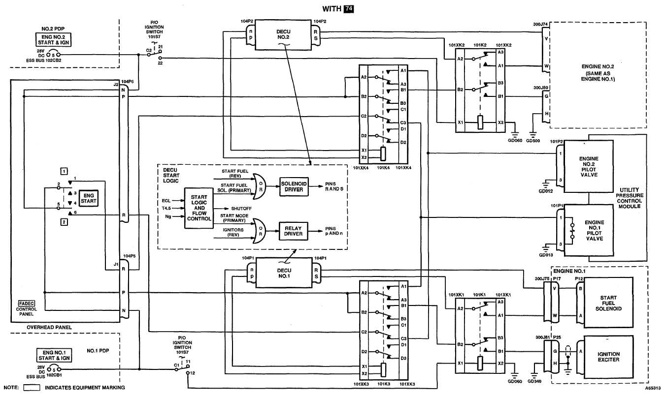 TM 55-1520-240-T 4-10.1 ENGINE START AND IGNITION SYSTEM SCHEMATIC DIAGRAM  4-10.1 END OF TASK 4-222 Change 17