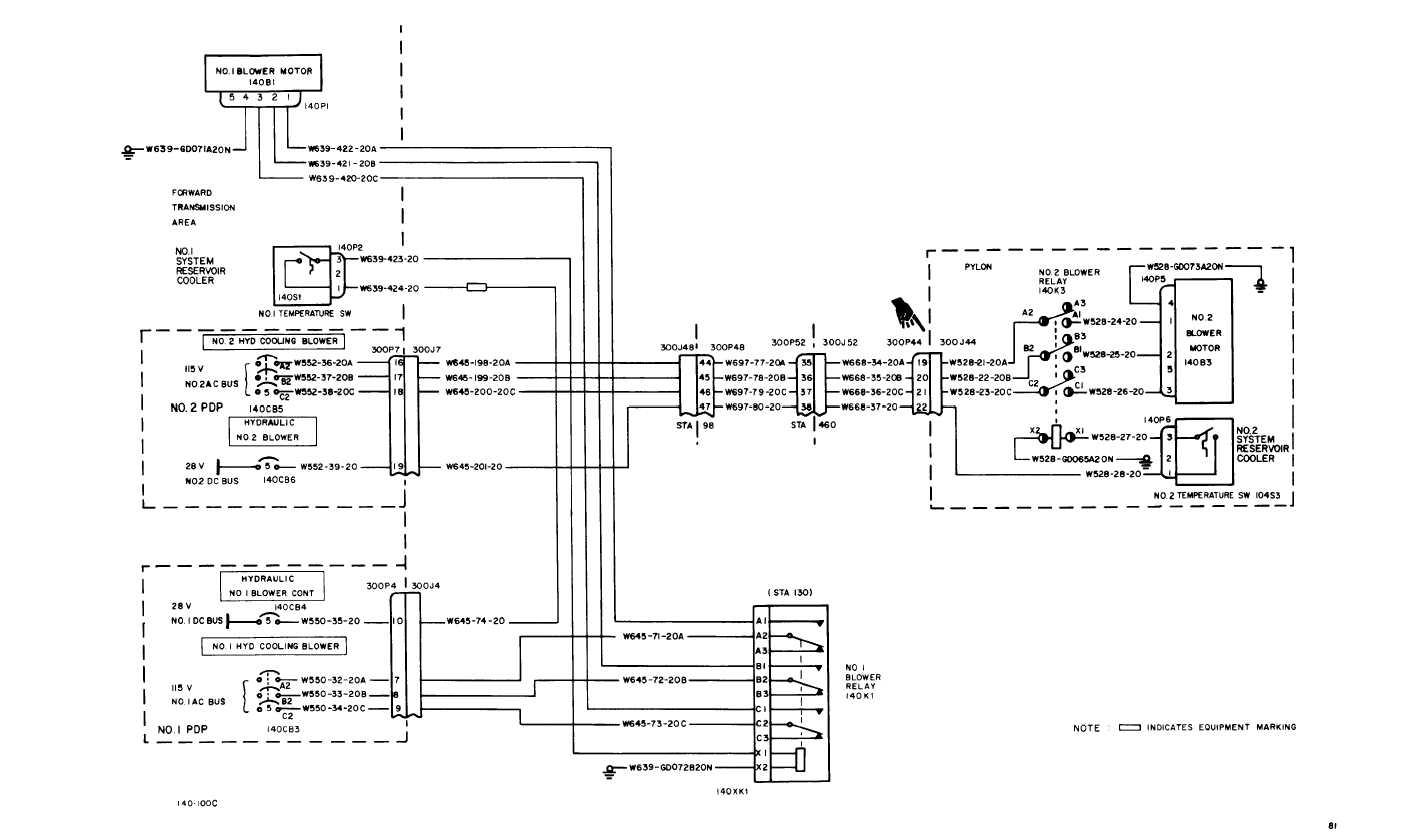 flight hydraulic system wiring diagram cont tm 55 1520 240 t 1 665