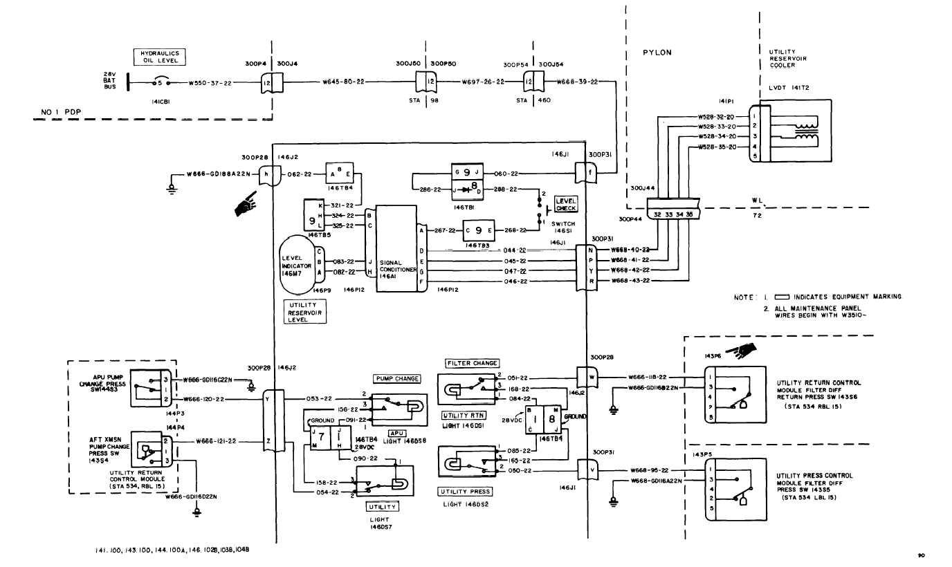UTILITY HYDRAULIC SYSTEM WIRING DIAGRAM (Continued) - TM-55-1520-240 on utility software diagram, utility power, utility heater, utility trailer parts diagram, utility transformer diagram,