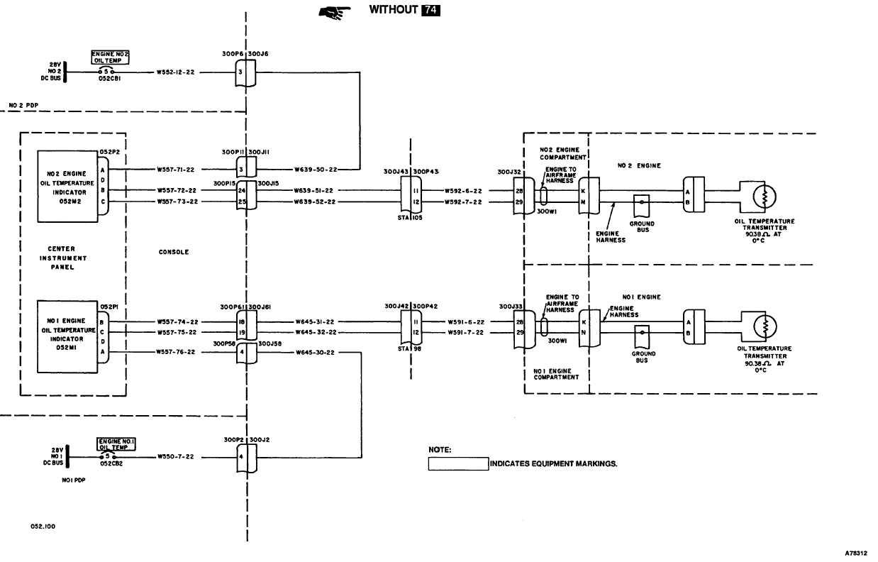 Engine Oil Temperature Indicating System Wiring Diagram