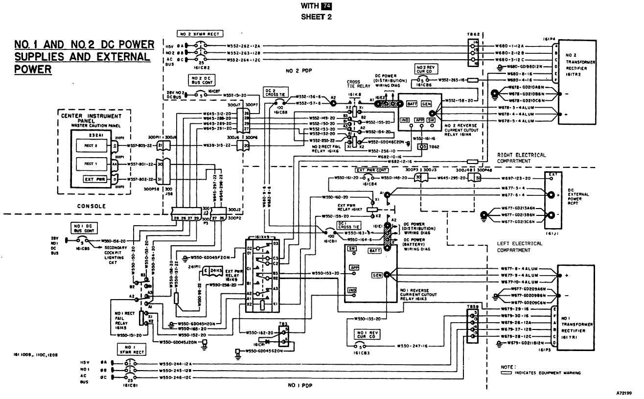 DC POWER SYSTEM WIRING DIAGRAM (Continued) - TM-55-1520-240 ... on