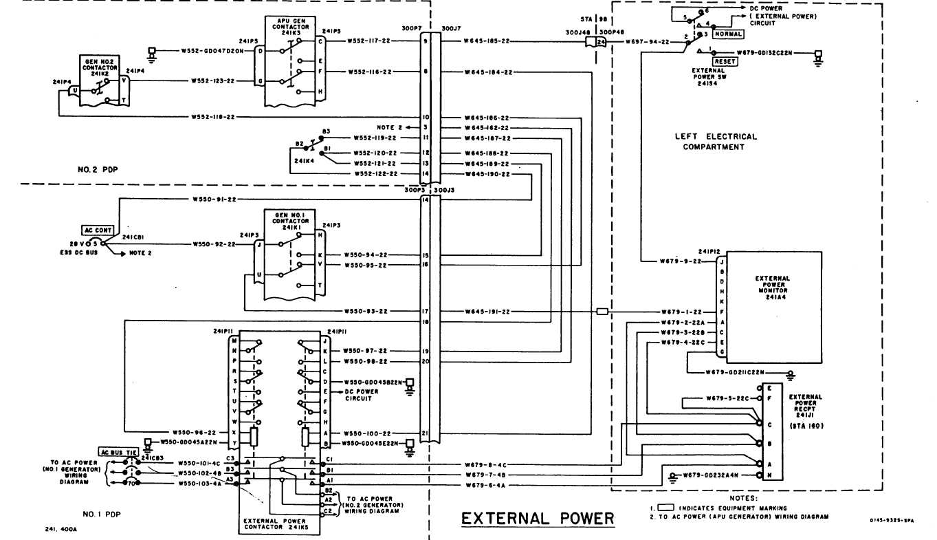 Ac Wiring Diagram: AC POWER WIRING DIAGRAM (Continued) - TM-55-1520-240-T-2_570,Design