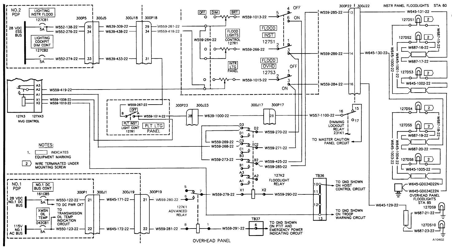 Secondary Cockpit Lights Wiring Diagram Tm 55 1520 240 T 9 1310 With 1 3