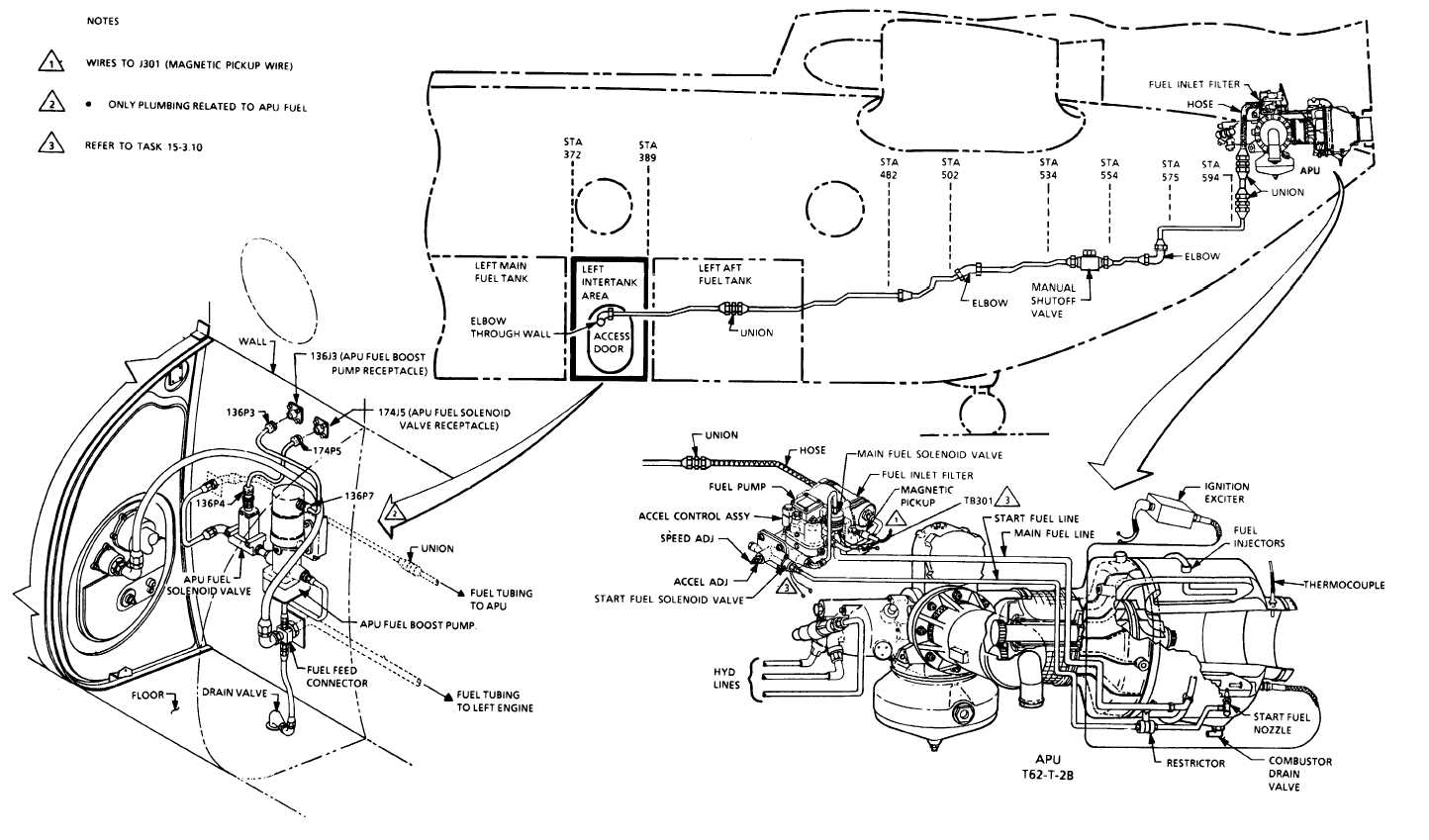 Apu Fuel System Piping Diagram Line Tm 55 1520 240 T 15 33 Change 8