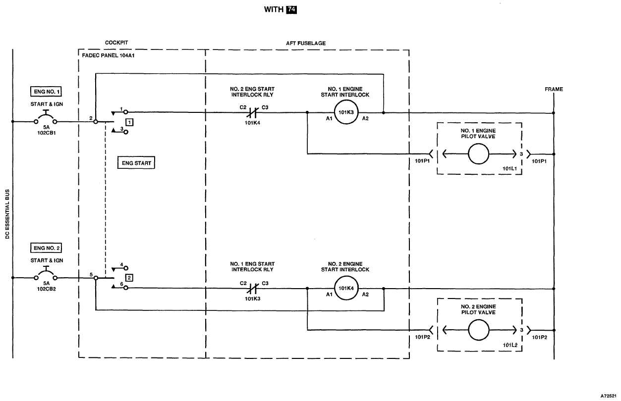 engine start system electrical schematic hydraulic portion