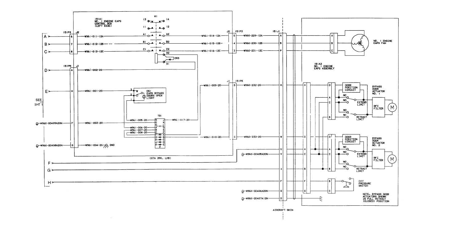 Engine No  1 Air Particle Separator Wiring Diagram  Continued